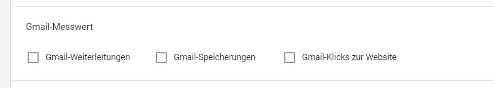 Gmail Messwerte einblenden