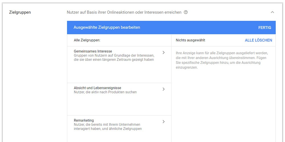 Gmail Zielgruppen