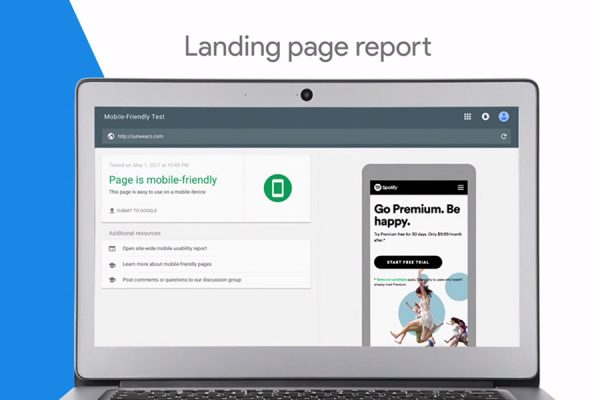 Google Marketing Next Landing Page Bericht