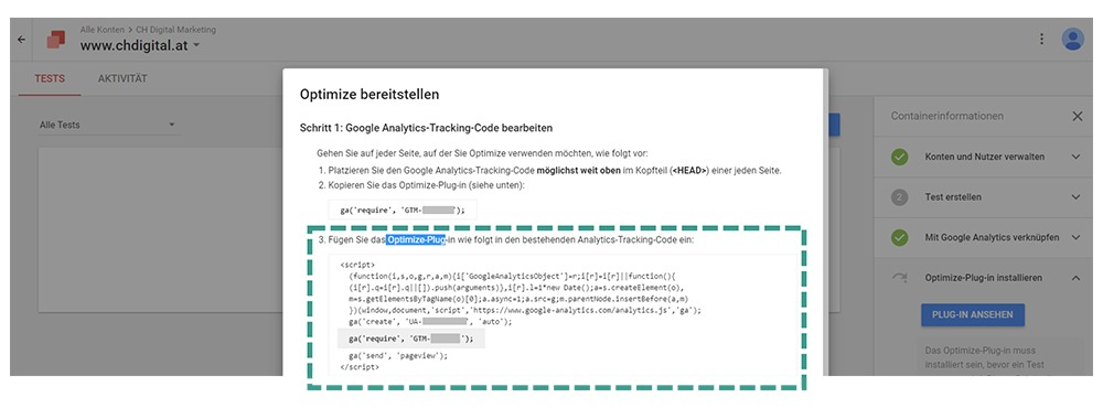 Google Optimize Plugin