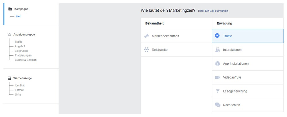 Facebook Werbeanzeigenmanager Anleitung
