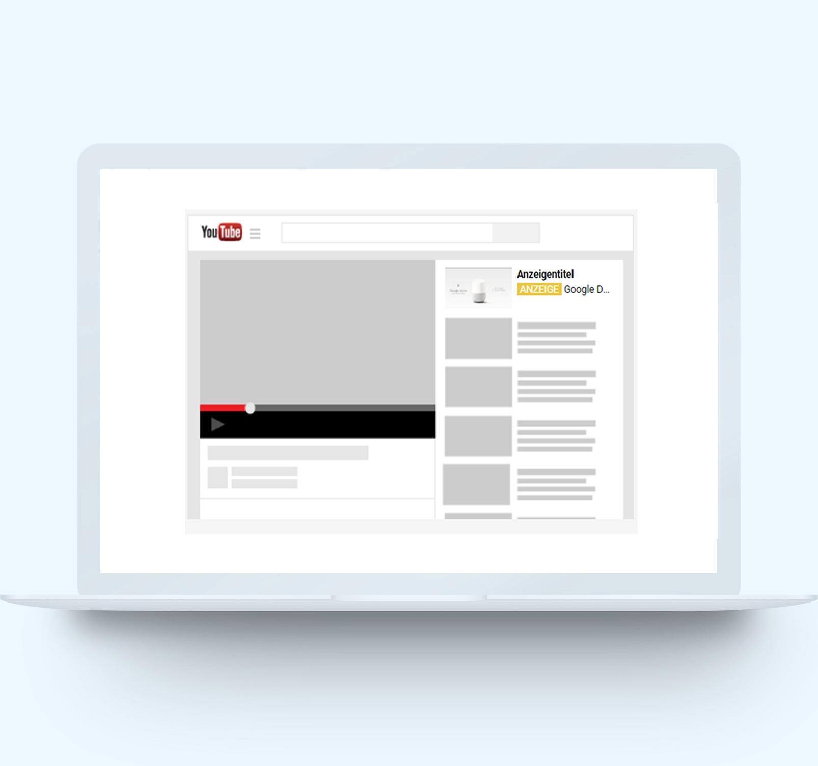 YouTube Werbung Beispiel