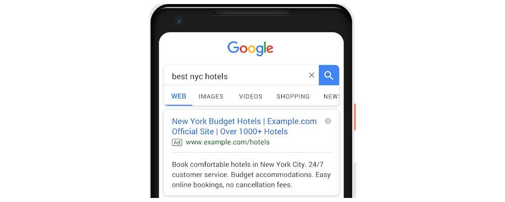 Erweiterte Textanzeigen Google Blog Screenshot