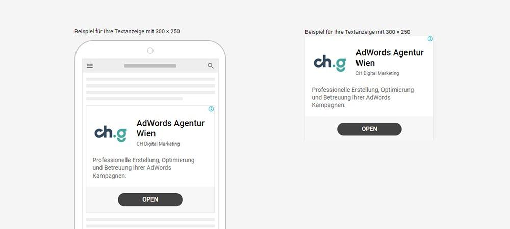 Google Ads neue Display Textanzeige mit Logo