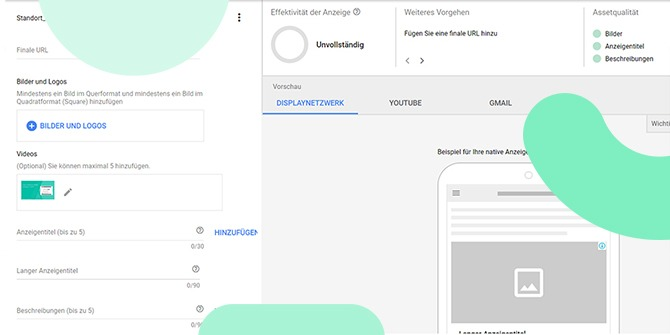 Google Ads responsive Display Anzeige Video