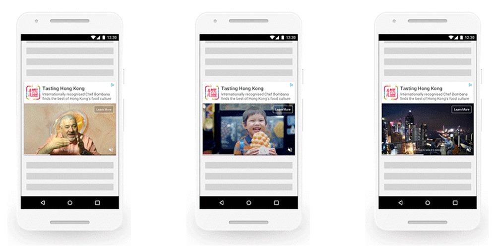 Google Ads Outstream Videokampagnen Beispiel