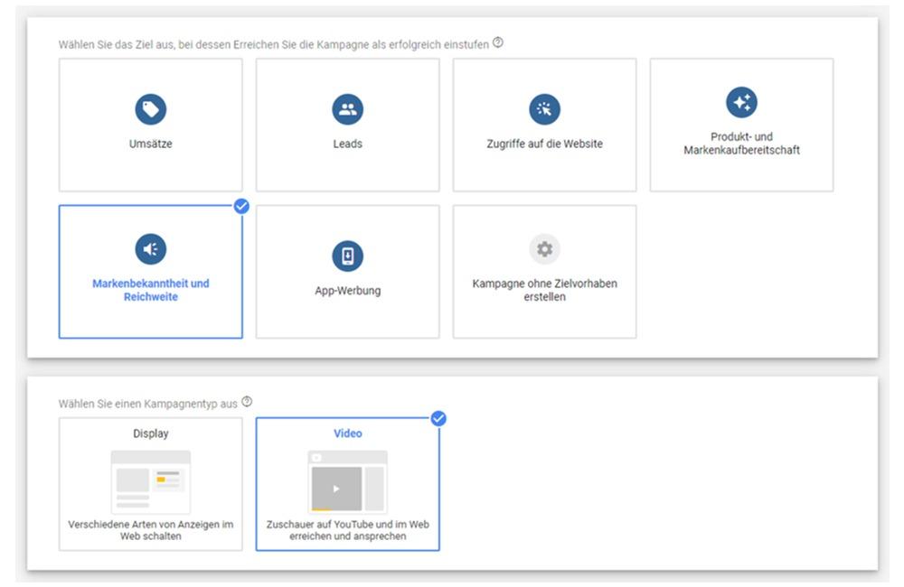 Google Ads Outstream Videokampagnen