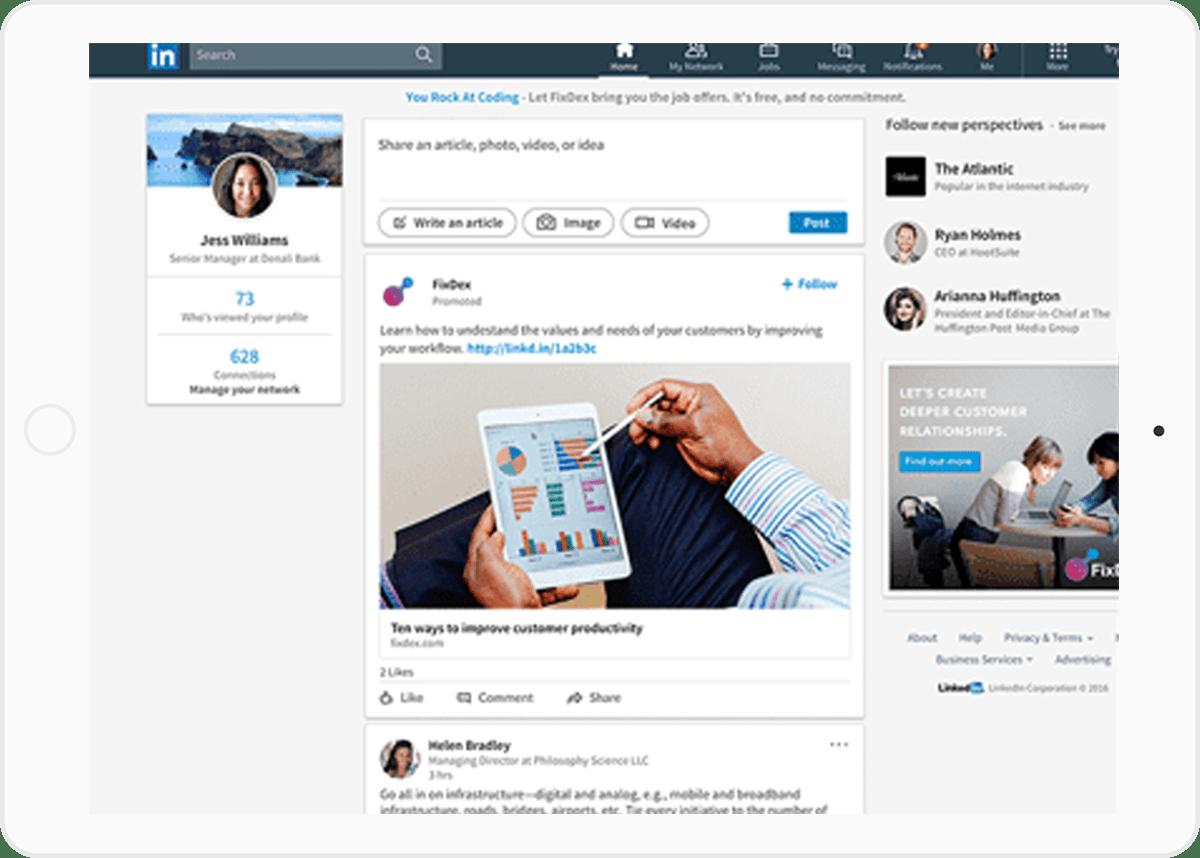LinkedIn Sponsored Screenshot