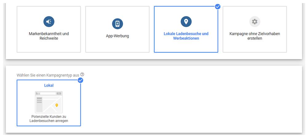 Google Ads lokale Kampagne erstellen