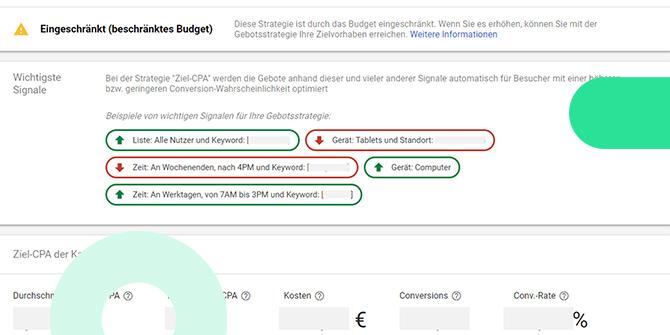 Google Ads Gebotsstrategie Bericht