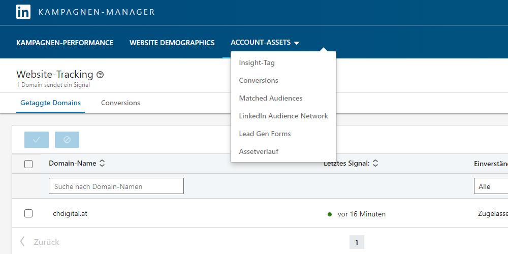 LinkedIn Account Assets