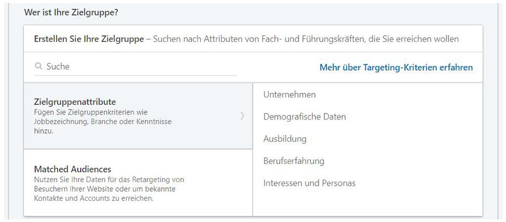 LinkedIn Zielgruppe definieren