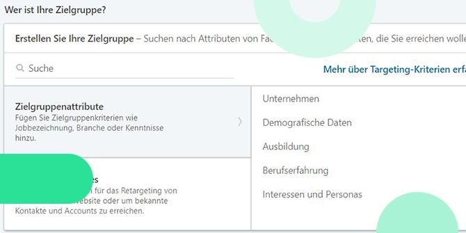 LinkedIn Zielgruppen