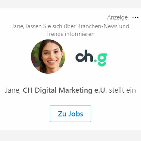 LinkedIn Ads Follower Anzeige