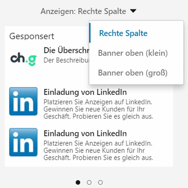 LinkedIn Ads Textanzeige