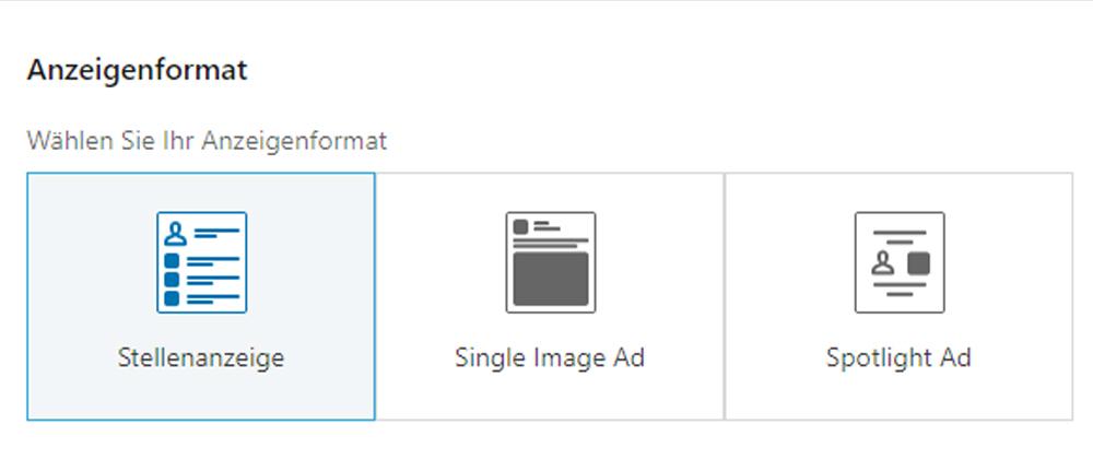 LinkedIn Ads Stellenanzeige