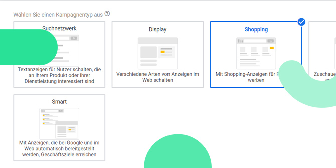 Google Smarte Shopping Kampagnen