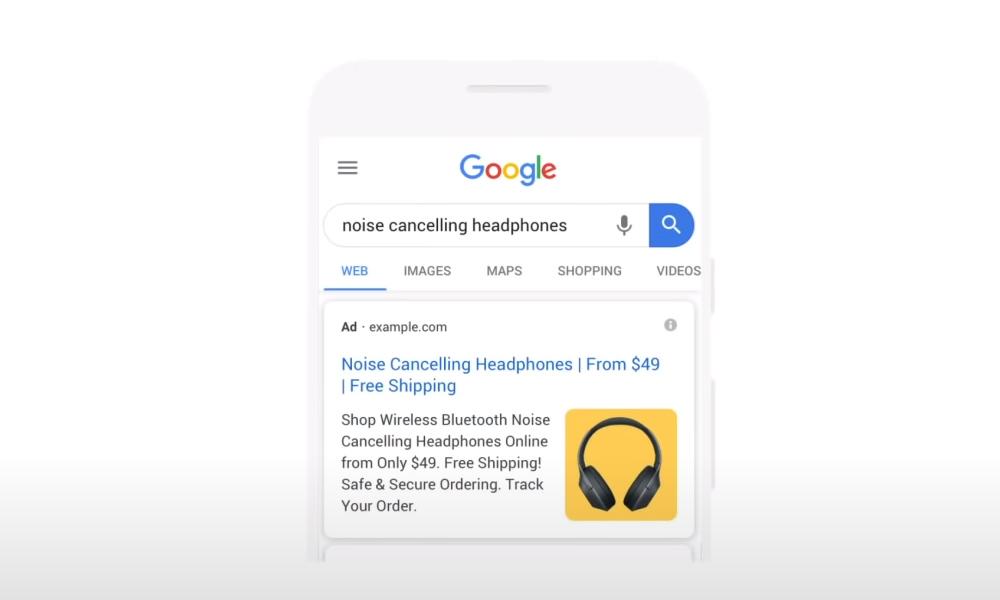 Google Ads Bilderweiterung Beispiel