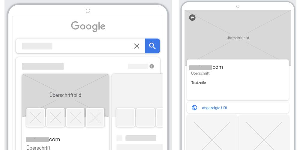 Google Showcase Shopping Ads Beispiel